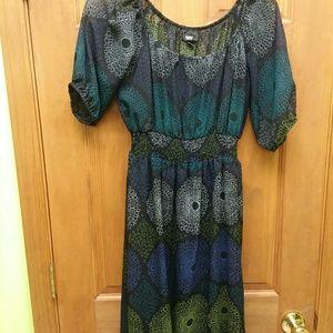 Mossimo Geometric 3/4 Sleeve Dress